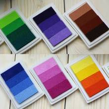 New Homemade DIY Gradient Color Ink Pad Multicolour Inkpad Stamp Decoration Fingerprint Scrapbooking Accessories J2Y