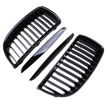 Car Styling Grille Front Center Wide Kidney Grills With Upper Hood Eyelids For BMW 3-Series E90 Sedan 2005-2008 Pre-facelift(China)