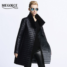 MIEGOFCE 2017 New Spring Jacket Parka Women Winter Coat Women's Warm Outwear Thin Cotton-Padded Long Jackets Coats High Quality