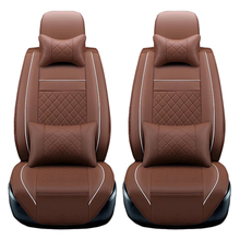 2 pcs Front PU Leather car seat covers For Lincoln MKX 2013-2009 MKT MKS MKC car accessories styling