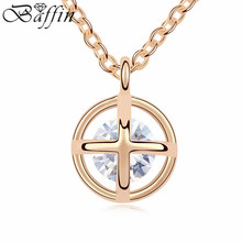 Retro Vintage Jewelry Elegant AAA Cubic Zircon Pendants Necklaces Channel Gold chain Choker Bijoux femme party decoration(China)