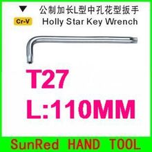 BESTIR taiwan made tool steel metric long arm hex torx key wrenches T27 Automobile Maintenance tool NO.27227 freeshipping