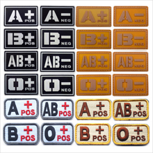 3D PVC Tactical Badge A/B/O/Ab+ Blood Type Patch Morale Patch Military Badges Embroidery Tactical Rubber Patches For Cap Jacket