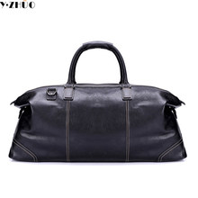 genuine leather big travel bags large capacity handbags tote 100% really  cowhide leather duffle bag luxury brand shoulder bags a2bb68a0f90eb