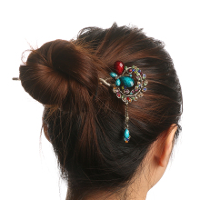 1 pcs Women Ladies Colorful Women Retro Crystal Butterfly Flower Hairpins Hair Stick Hair Clip Hair Accessories