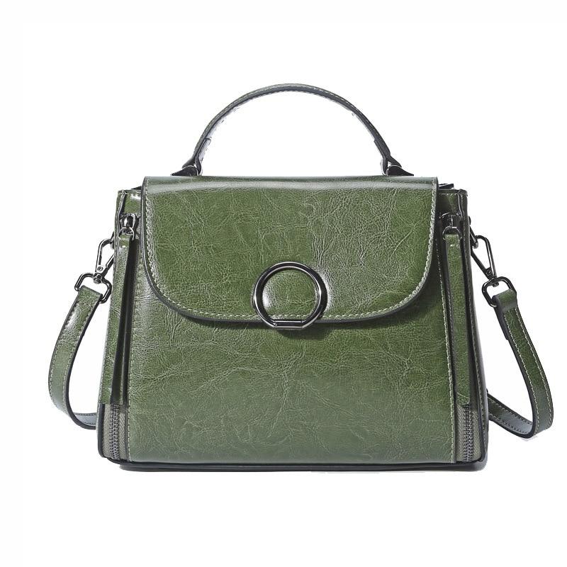 New Trending Leather Small Women Totes Wax Oil Cowhide Female Handbag European Fashion Portable Bags PR08222  <br>