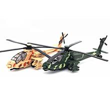 Alloy Military Helicopter Model,26Cm in Length Model, Die Cast Plane, Fighter With Light Music Kids Toy Gift(China)