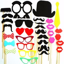 34PCS Photo Booth Props 2017 New  Wedding Decorations Photobooth props baby shower Wedding Party Decorations photo booth Married
