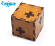 Wooden Box kids Switzerland cube Puzzle secret Brain Teaser Puzzles Game Toy IQ Educational Wood Puzzles for children and Adult(China)