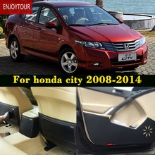 Car pads front rear door Seat Anti-kick mat Car-styling Accessories For honda city 2008 2009 2010 2011 2013 2012 2014(China)