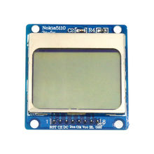 Nokia 5110 84*48 Blue Backlight LCD Module for MCU Development Board LCD Module Adapter PCB for Arduino