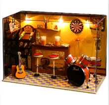 DIY Doll House Model Building Kits Handmade 3D Miniature Wooden Dollhouse Toy Christmas and Brithday Gift  English instructions