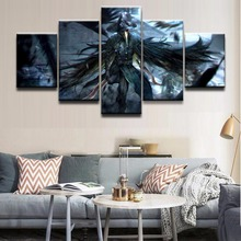 Wall Canvas Art Poster Frame Room Home Decor 5 Pieces Bloodborne Crow Dagger Warrior Pictures Painting Modern HD Printed Photo(China)