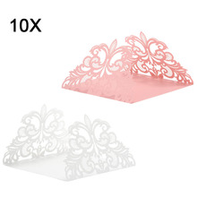 10 Pcs/ Set Wedding Party Invitation Card Decor Cards Envelope Delicate Carved Flower Wedding Party Supply E2S