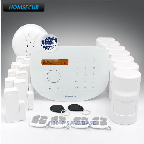 HOMSECUR RFID Wireless&Wired GSM Alarm System for Residential and Business Security+IOS/Android APP(China)