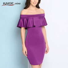 Buy Flare Casual slash neck women dress Summer style shoulder sexy dresses vestidos Solid color Personality Dresses 1805 for $18.35 in AliExpress store