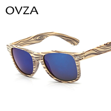 Ovza Classic Simplicity Frame Lmitation Wood Pattern Plastic Glasses Men Rectangle Retro Sunglasses Women oculos feminino A397(China)