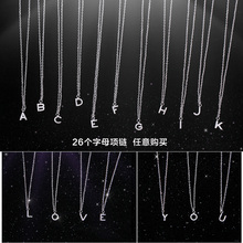 Luxury Brand New 26 Letters Necklace Pendant Real 925 Sterling Silver Inlay AAAAA Cubic Zircon Necklace Pendant For Women(China)