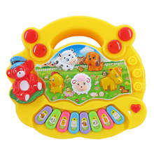 Educational Keyboard Music Toys Musique Enfant Baby Kids Animal Farm Baby Piano Sound Development Musical Instrument(China)