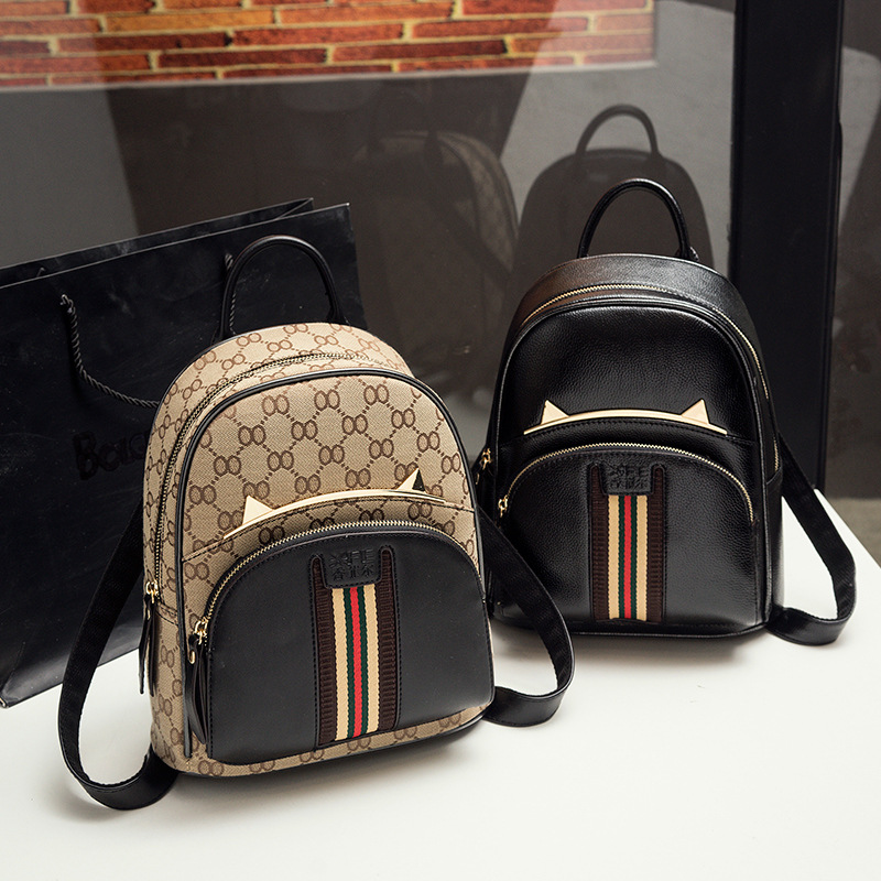 2017 genuine leather mini backpack cow leather backpack for women cartoon small korean backpack mochila de couro bolsa feminina<br>