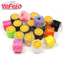 Wifero 1PC 12 Color Fly Tying Material  Genuine Rabbit Fur Strip for Fly Tying Material Zonker Streamers / Hare Dubbing Fiber