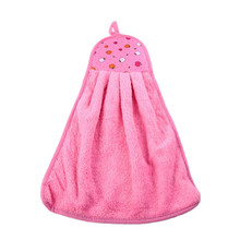1PC  Soft Microfiber Hand Dish Wash Hanging Drying Towels Kitchen Bathroom Washcloth