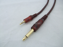 6.5/6.3 to 3.5 dual channel 3.5 stereo to 6.35/6.5 mono Audio line Audio and video signal cable 1M 3.2ft(China)