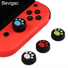 Bevigac 8 PCS Silicone Paw Style Thumb Stick Joystick Caps Grips Covers Case for Nintendo Switch NS Nintend Gaming Accessories(China)