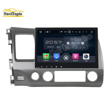 NAVITOPIA 10.1inch Octa Core Android 6.0 Car Multimedia Player for Honda Civic 2006 2007 2008 2009 2010 2011 GPS Radio Stereo(China)