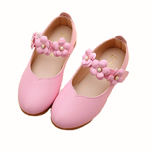 Girls Girl Leather Shoes Children New 2017 Fashion  Party Princess Dress For Leather Wedding  White Pink Children Shoes Girls