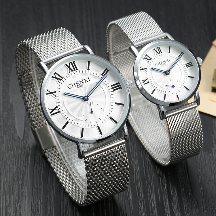 2017 Ultrathin watches Lovers watch for men stainless steel Mens Womens Mesh band quartz Wrist Watch female form male clock<br><br>Aliexpress