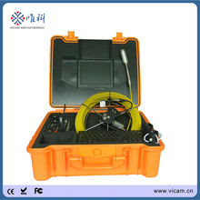 V8-1288TC crawler cameras with 512Hz transmitter push rod cable inspection camera tube 8 new camera cctv videos supplier(China)
