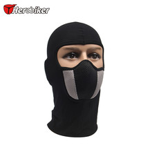 HEROBIKER Men's Motorcycle Face Mask Outdoor Motorcycle Helmet Hood Ski Sport Neck Face Mask Windproof Dustproof Red And Gray(China)