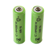 New 2 PCS  AA Rechargeable Battery Pointed 3800mAh 1.2V NI-MH Batteries For Remote Remote Control Toy Light