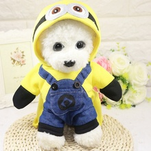 Buy 2017 Pet Dog Clothes Yellow Minions Costume Cartoon Dog Coat Winter Puppy Animals Clothing Chihuahua Yorkshire Puppy Hoodie for $7.45 in AliExpress store