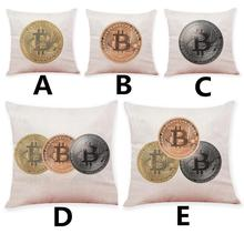 Buy 2018 Pillow Case 45*45 Home Decor Cushion Cover Bitcoin Decorative Coins Throw Pillowcase Pillow Cove NEW Free NEW DE26 for $2.42 in AliExpress store
