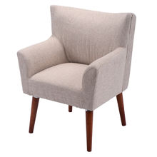 Giantex Beige Leisure Arm Chair Living Room Single Couch Seat Modern Home Furniture Casual Gaming Sofa Chair HW51502BE(China)