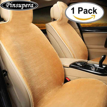 One PC Sheepskin Wrap Car Seat Covers Pouch Design Non-slip Cover with High Density Rebound Sponge Airbag Ready Fit for Most Car