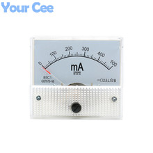 1 pc New 85c1 Current Monitoring 0~500mA Analog DC AMP Panel Meter Class 2.5 Pointer Ampere Gauge