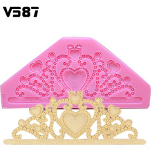 Silicone Chocolate Cake Mould Classic DIY Crown Cake Tiara Cooking Tools Fondant Cake Decorating Bakeware Tools