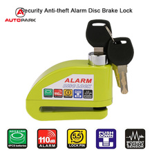 Motorcycle Moto Scooter Bicycle Disc Brake Lock Security Anti-theft Alarm Lock(China)