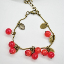 Free Shipping Hot New Fashion Women Vintage Sweet Cherry Beautiful Bracelet Jewelry Accessories