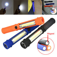 Hot Practical 3Colors Multifunction Portable COB Lamp Camping Work Light Flashlight Torch W/Magnetic With Long Service Time
