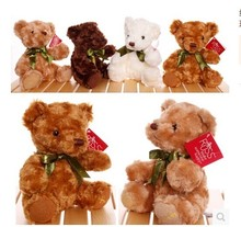 about 20cm lovely teddy bear plush toy one lot / 8 pieces toys, birthday , activity gift , Christmas gift w4539