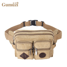 Canvas Waist Bag Functional Men Women Waist Pack Fanny Pack Money Phone Belt Bag Coin Purse Portable Travel Belt Wallets