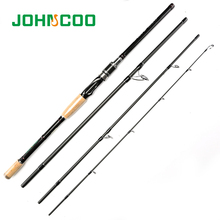 Spinning Rod 2.1m 2.4m 2.7m 3m Carbon Fishing Rod 4 Sections Travel Rod Casting Rod Medium Fast Action 10-25g Super light weight(China)
