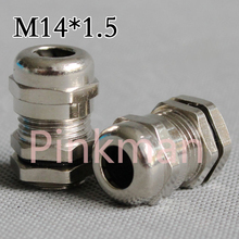 2pcs Metric System M14*1.5 304 Stainless Steel Cable Glands Apply to Cable 3-6.5mm(China)