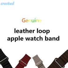 CRESTED Genuine leather loop band for apple watch band 42 mm/38 strap bracelet & Adjustable Magnetic Closure Loop leather strap