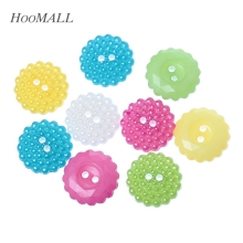 "2017 New 100PCs Resin Buttons Round Multi-colored Mixed Sewing Scrapbooking Crafts 15mm( 5/8"") Dia."