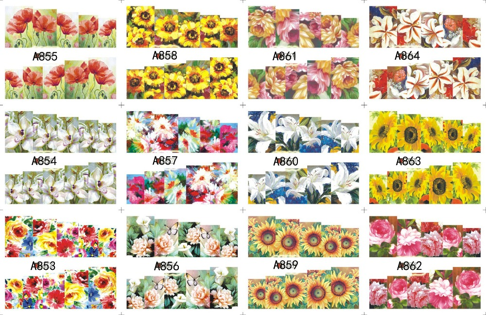 12 PACK/ LOT WATER DECAL NAIL ART NAIL STICKER SLIDER TATTOO FULL COVER GARDENIA SAVONA MARGUERITE BN-A853-864<br><br>Aliexpress